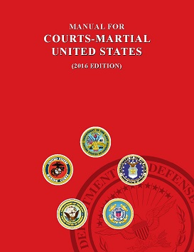 manual for courts martial 2016